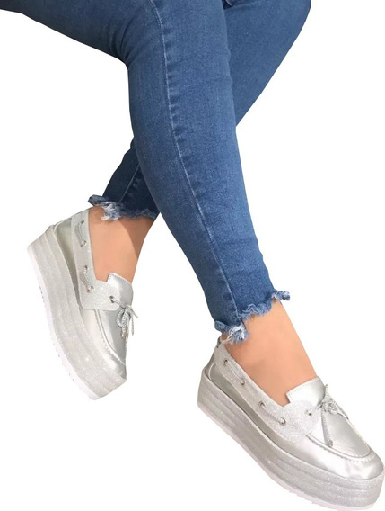 Tenis Zapatos Doble Piso Plataforma Mujer Moda Envio Gratis
