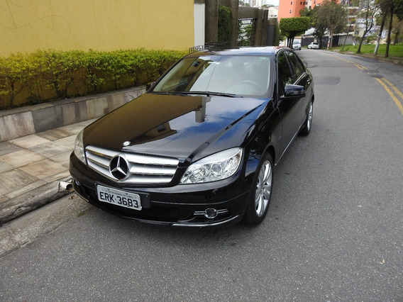 Mercedes-benz Classe C 1.8 Cgi Avantgarde Preta Top De Linha