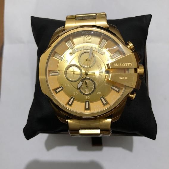 Relógio Malotty Feminino Dourado Original