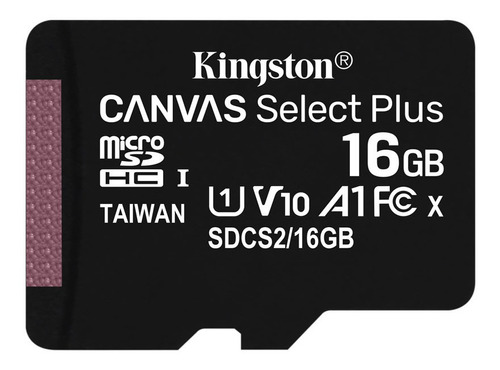 Kingston Memoria Micro Sd 16gb A1 Celular Mayoreo 100mb/s +