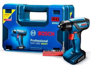 Furadeira Parafusadeira Bosch 12v Gsr1000 Smart + 10 Bits