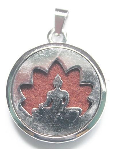Colar Difusor De Aromas Pessoal Buda Prateado Com Corrente