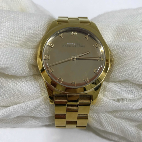 Relógio Marc By Marc Jacobs Dourado Usado Original