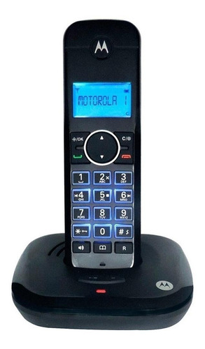 Imagen 1 de 3 de Teléfono inalámbrico Motorola MOTO550CE-2 negro