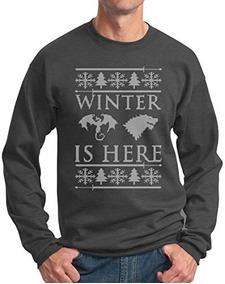 Sueter Feo De Navidad El Invierno Esta Aqui Sudadera Dh Xl