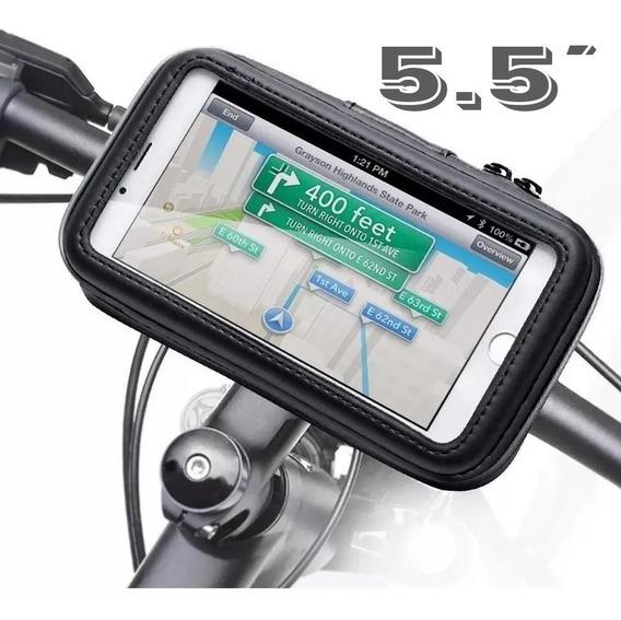 Suporte Celular 5.5 Gps P/ Moto Bike Fixa Guidão Envio Full