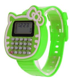 Relógio Calculadora Infantil Da Hello Kitty