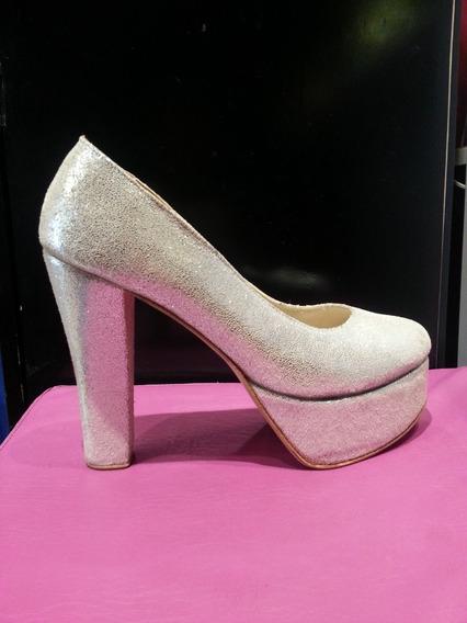 Zapatos Dama Fiesta Taco Palo 14 Cm Talle 41,42,43,44