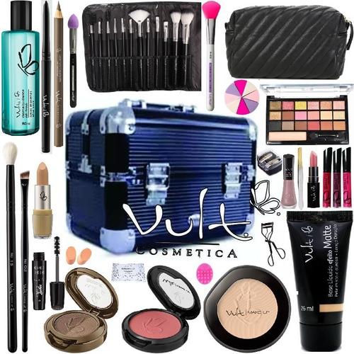 Maleta Extra Grande + Maquiagem Completa Original Vult Make