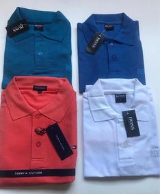 Lote 2 Camisetas Polo Hugo Boss Y Tommy, Playeras Hombre