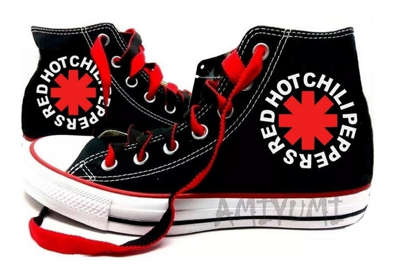 Tênis Red Hot Chili Peppers All Star Converse Personalizado