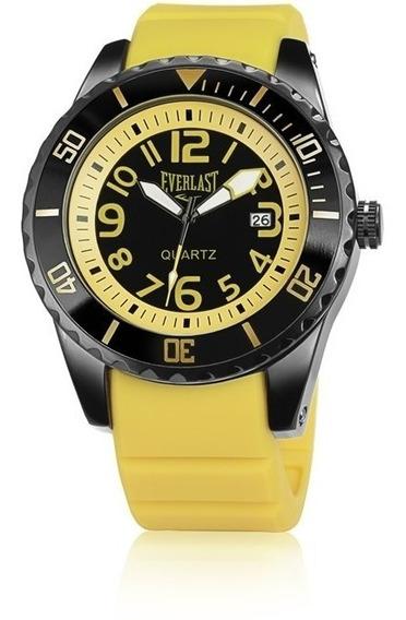 Relógio Everlast Masculino E512 - Amarelo E Preto-mostruário