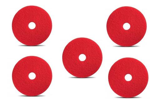 Discos Fibras Pads Rojos De 20 Pulgadas Para Pulidora De Pisos O Fregadora Restregadora 5 Piezas