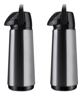 Kit 2 Garrafa Térmica Invicta Air Pot Slim Aço Inox 1,8 L