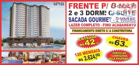 Frente-mar 2 Dorms, Maracanã, Praia Grande, R$ 44 Mil, Ap00712