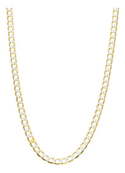 Cadena Bizzarro De Oro Amarillo De 14k Con Diamantado Platin