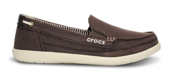 Crocs Walu Canvas Loafer Women Espresso Marrón Envios País