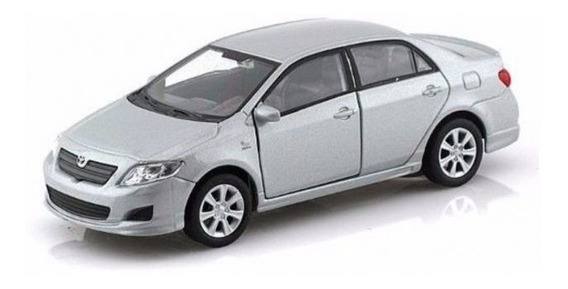 Toyota Series Auto Metálico De Colección Gris Welly 43608w