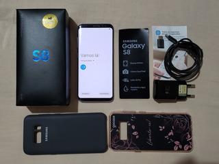 Celular Samsung Galaxy S8 Preto 64gb 4gb/ram 12mp Dual Chip