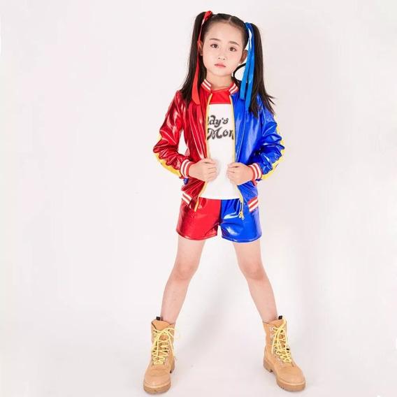 Disfraz Harley Quinn.(niñas) Halloween.cosplay Chirimbolos