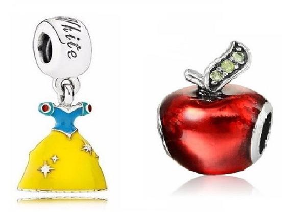 Kit Com 2 Berloques Disney Princesa Branca De Neve Pandora