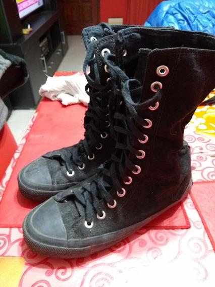 Zapatillas Botitas De Lona