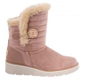 533d5edc Bota De Frio Para Dama Color Rosa Pink Con Peluche Envio Gra
