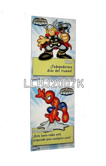Tarjetas Spider-man & Thor Marvel Super Heroes Squad Baf