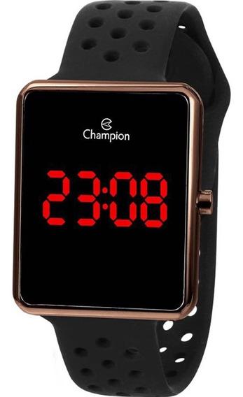 Relógio Champion Feminino Digital Preto Chocolate Ch40081r