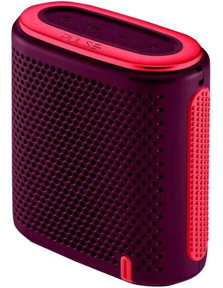 Caixa De Som Portátil Box Pulse Sp239, 10w Rms - Roxo / Rosa