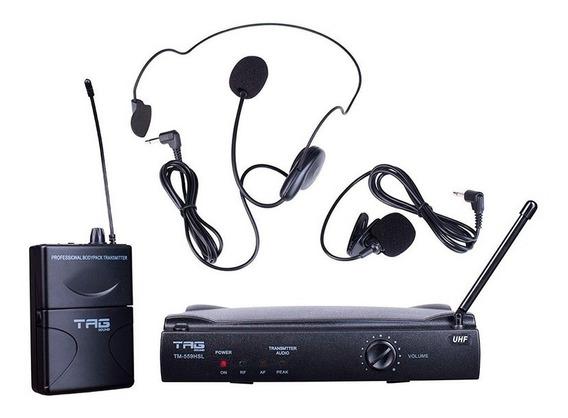 Microfone Lapela/headset S/ Fio Tag Sound Tm-559hsl