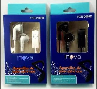 Fone De Ouvido 100%original Inova P2 Microfone Bass Top