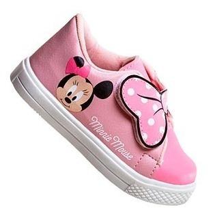 Tênis Flap Infantil Minnie E Mickey - Original Licenciado