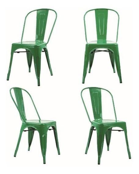 Kit 4 Unidades Cadeira Tolix Iron De Aço Decorativo