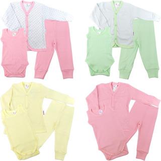 Roupa De Bebê Kit 4 Conjuntos Pagão Calça Body E Casaco