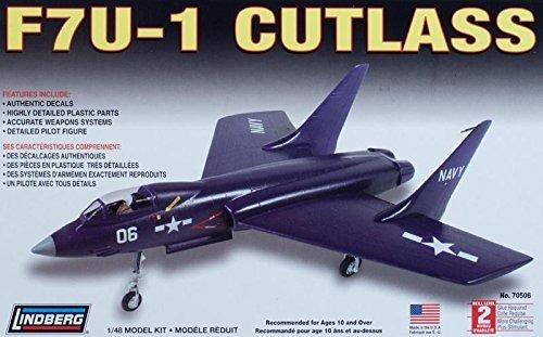 Imagen 1 de 5 de F7u-1 Cutlass (kit Plástico), 1/48. Lindberg Usa.