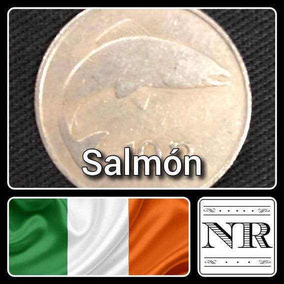 Irlanda - 10 Pingin - Año 1969 - Km # 23 - Salmon - Pez