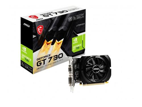 Placa De Video Msi Gt 730 4gb Ddr3 Oc Edition Nvidia
