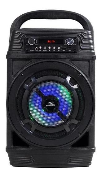 Caixa De Som 60w Bluetooth Power Black Sumay Preta