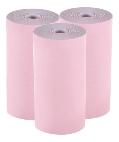3 Rollos Papel Térmico, 50 X 30mm,mini Impresora Fotográfica