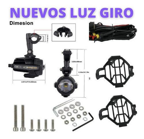 Faro Led Auxiliar Led Soporte Original X2 C/ Giro Y Kit Inst