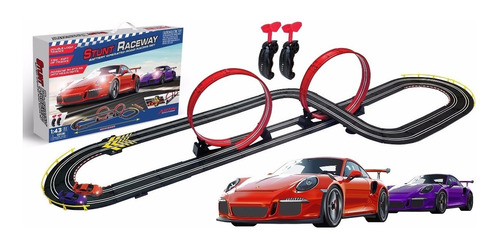 Pista Simil Scalextric 2.10m Porsche Car 220v 843033 Bigshop