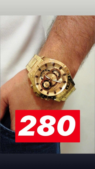 Relógio Dourado 4 Modelos Diferentes