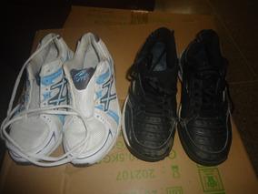 Zapatos Deportivos Nyrt Talla 37 Blancos Con Azul