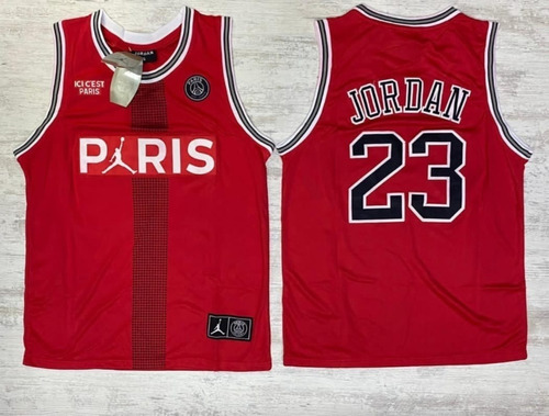 Camiseta Jersey Baloncesto Paris Jordan 23 Log Bordado + Env