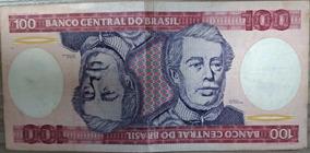 Cédula 100 Cruzeiros Antiga Do Brasil Duque De Caxias