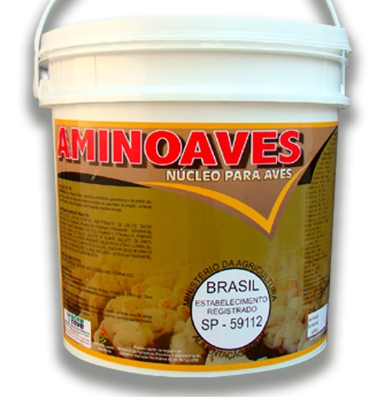 Aminoaves 5 Kg - Agrocave - Nucleo Para Misturar Na Ração