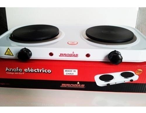 Anafe Electrico Dos Hornallas- Brogas