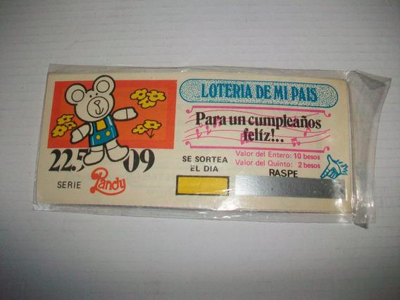 Antiguas Invitaciones Cumpleaños Boleto Loteria Del 70