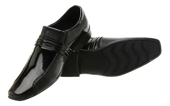 Sapatos Masculinos Sociais Verniz Preto Qualidade Garantida